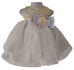 Dress for girls_Faye Gold Chevron Embroidered Dress
