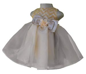 Birthday dress_Faye Gold Chevron Embroidered Dress