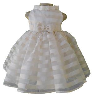 baby dress_Faye Gold Stripe Tissue Dress