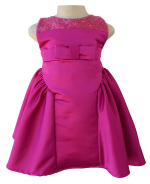 Kids Dress_Faye Magenta Ceremonial Dress