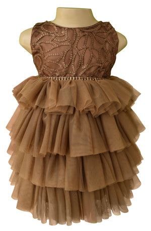 Birthday dress_Faye Mocha Layered Party Dress
