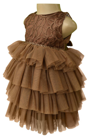 baby dress_Faye Mocha Layered Party Dress