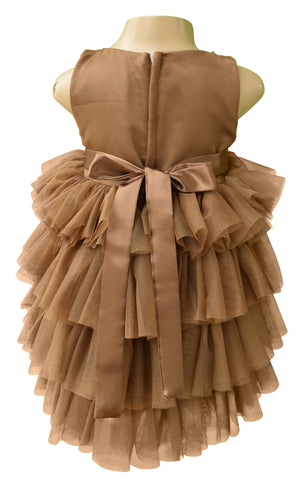 Faye Mocha Layered Party Dress