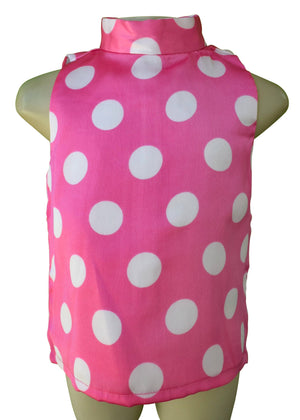 Faye Pink Polka Collar Top