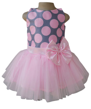 Birthday Dress_Faye Pink & Grey Tutu Dress