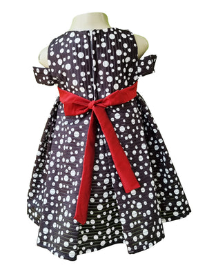 Faye Polka Offshoulder Dress