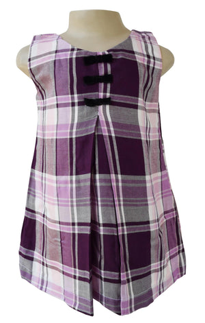 Kids wear_Faye Purple Checks Dress