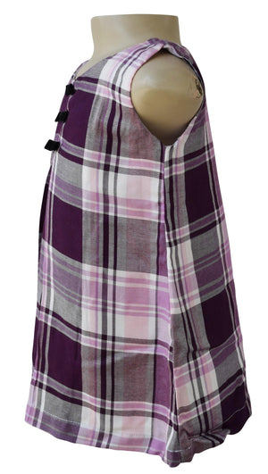 Kids Dress_Faye Purple Checks Dress