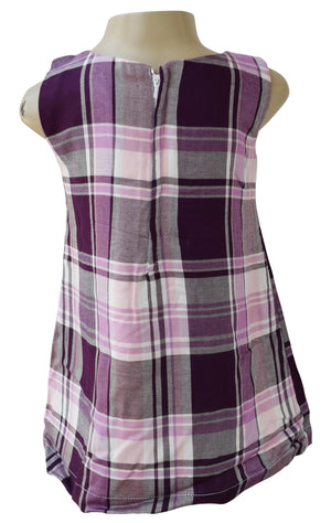 Frocks_Faye Purple Checks Frock