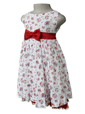 Frocks_Faye Red Floral Print Dress