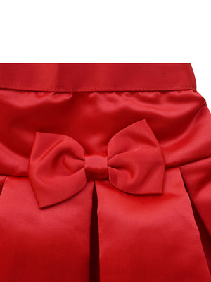 Faye Red Satin Skirt