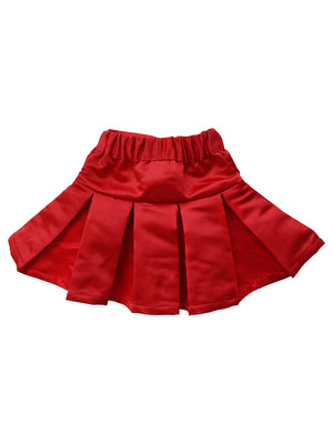Skirts_Faye Red Satin Skirt