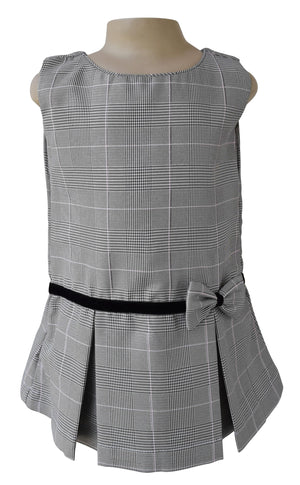 Kids wear_Faye Shimmer Checks Pleated Dress