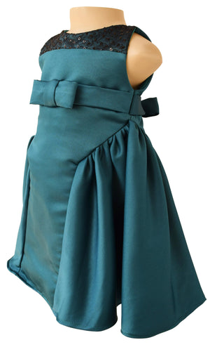 Girls Party Dress_Faye Teal Ceremonial Dress