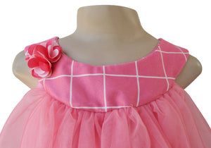 kids party wear_Faye Two-tone Pink Dress