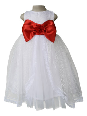 White Embroidered Gown with red bow_faye
