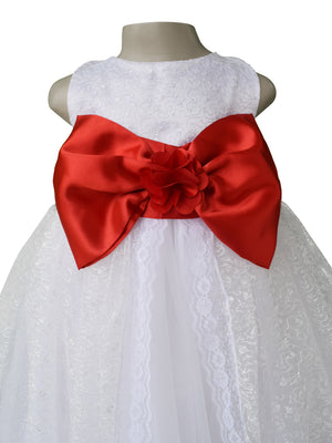 Kids Gown with red bow_faye