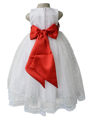 White Gown with red bow_faye