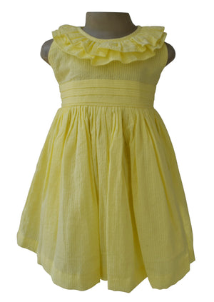 Girls Dress_Faye Yellow Ruffle Dress