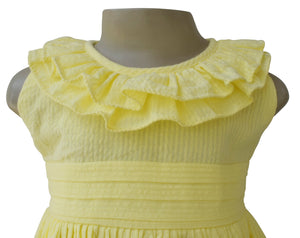 Dress for  Girl_Faye Yellow Ruffle Dress