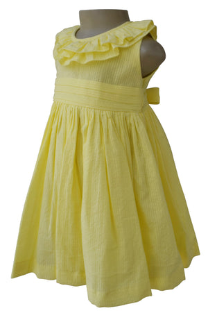 Kids Dress_Faye Yellow Ruffle Dress