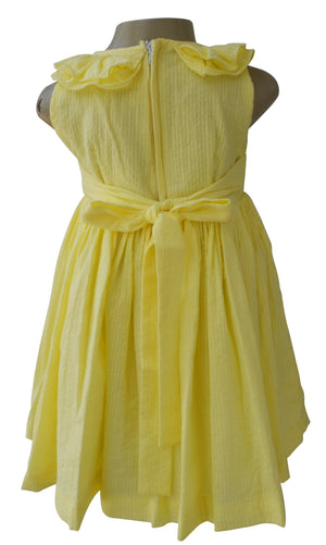 Faye Yellow Ruffle Dress