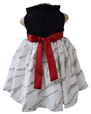 Faye Black Collar Baby Party Dress