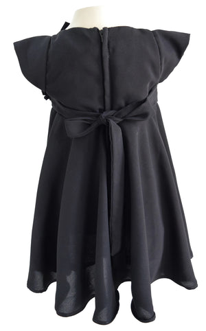 Faye Black Georgette Dress
