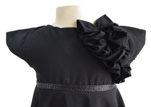 Faye Black Georgette party Dress for girls