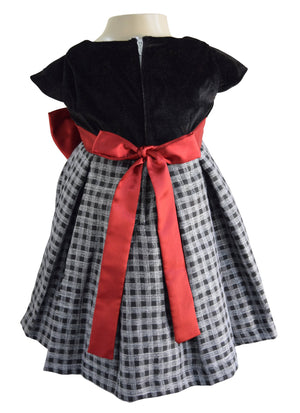 Faye Black & Grey Checks Dress