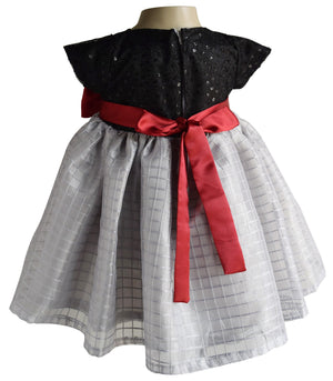 party dress_Faye Black & Grey Checks Dress