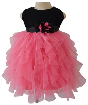 kids dress_Faye Black Lace Waterfall Dress