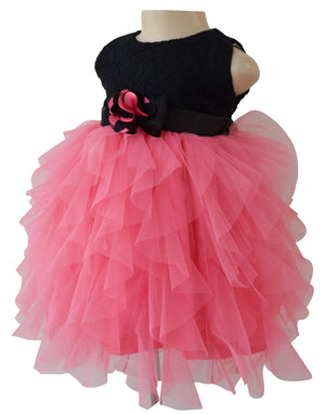 girls dress_Faye Black Lace Waterfall Dress