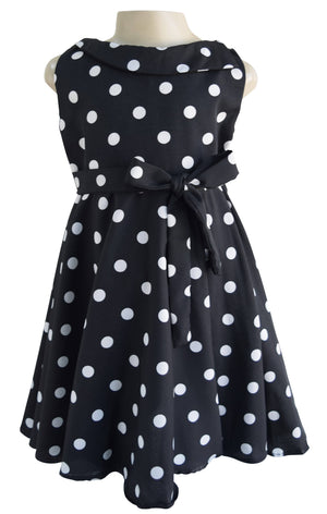 Kids Dress_Faye Black Polka Classic Dress