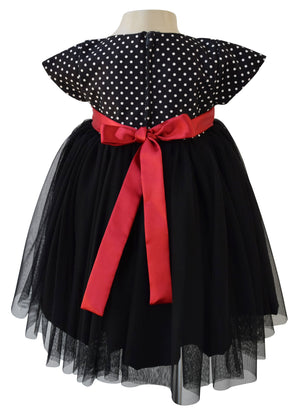 Faye Black Polka Party Dress