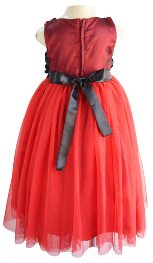 Faye Black Rosette Gown for Kid Girl