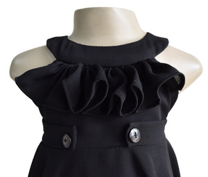 Faye Black Ruffle Dress for Kids