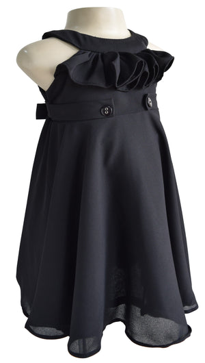 Faye Black Ruffle Dress_Occasion wear for girls