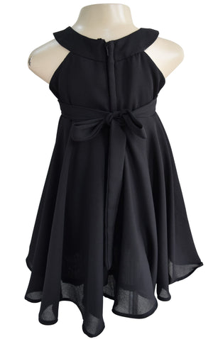 Faye Black Ruffle Dress