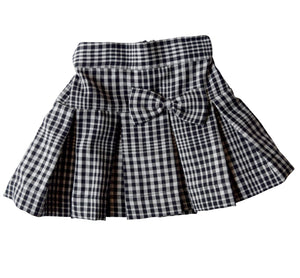 Blk & White Checks Skirt for Gilrs
