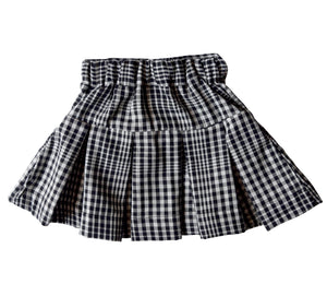 Blk & White Checks Skirt for Kid Girls