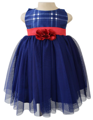 Baby Dress_Faye Blue Checks Party Dress