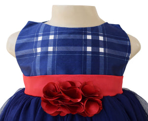 Faye Blue Checks Party Dress
