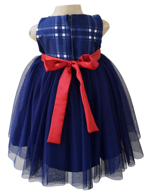 Baby Party dress_Faye Blue Checks Dress