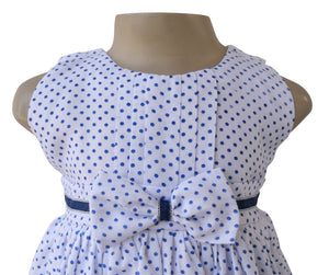 Faye Blue Polka Dress