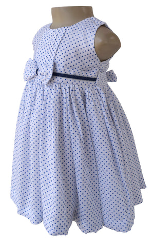 Faye Blue Polka Dress for kids