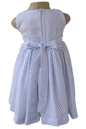 Faye Blue Polka Dress for girls