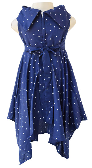 Kerchief Dress_Faye Blue Viscose Dress