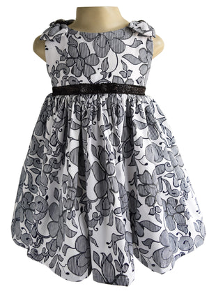 Faye Blue & White Shimmer Dress for girls