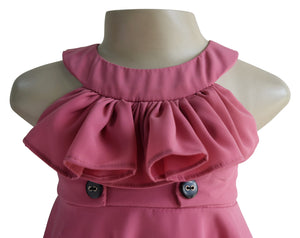 Faye Blush Ruffle Dress